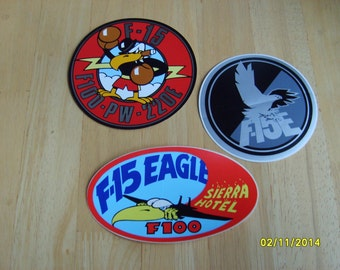 Military Patches, Decals, Military Stickers, Pratt and Whitney Paper Decals,F-15,  Paper Logo, Aircraft Stickers (3)