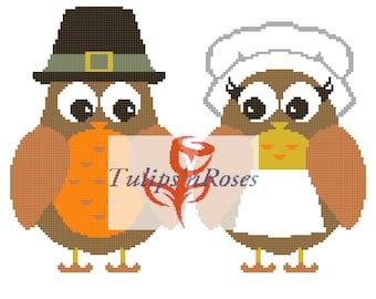 Pilgrim Owl Couple