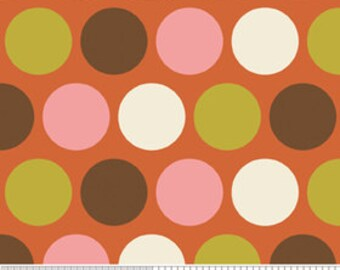 Indian Summer by Riley Blake, Big Dot in Orange - 1 Yard - Reduced