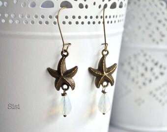Earrings Bronze Star Sea