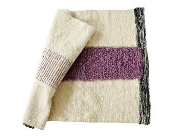 Libni Woven Wool Rug 2'x3' (3 color options)