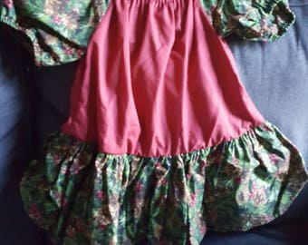 Gypsy style peasant Christmas dress