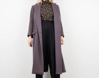 AMAZING Vintage Lilac Wool Coat / S / hipster jacket coat womens outerwear overcoat oversized coat purple lavender
