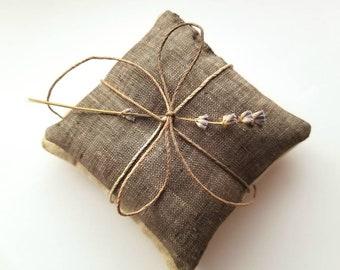 Simple Lavender Linen Sachet Set