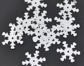 set of 5 grams of glitter star snow white 19 X 17 mm