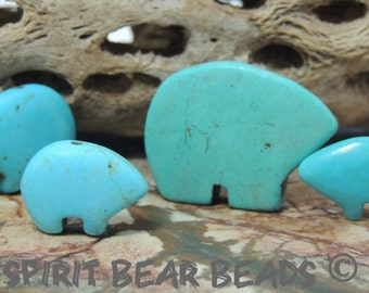 The Best Turquoise Zuni Bear Family of Sizes  Poppa Momma Teen and JR Ship Free with another item