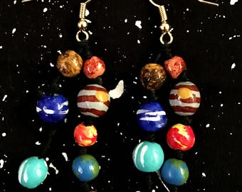 Solar System Earrings / Planets Earrings / Astronomy Jewelry /Cosmic Jewelry /Planets/Space Earrings /Astronomy/Cosmos/ Universe/Space Gift