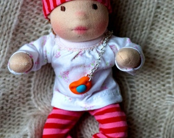 Emily-cute baby waldorf doll with a carrier. Waldorf doll, Waldorf toy, Fiber art doll, OOAk doll, Steiner doll, Doll waldorf, Cloth doll