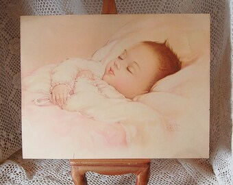 Edythe Marie Klapka Precious Asleep Print 1940's