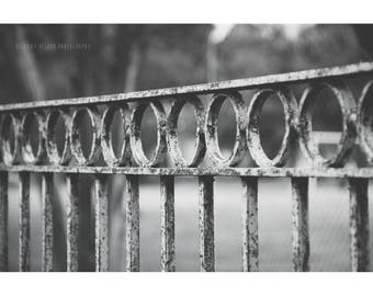 New Orleans French Quarter Photography Fence Photography NOLa Art Architecture Photography Black and White Photography