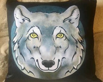 Wolf Totem Square Pillow