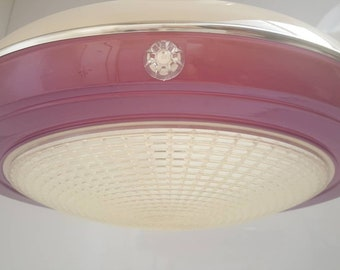 Space Age flying saucer pendant lamp lamp purple vintage 1960s