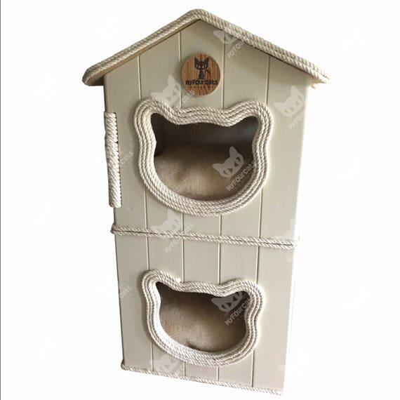 CatCottage Cat Condo Cat Tower Cat Tree Cat Furniture Cat Bed Play Furniture Pet Furniture