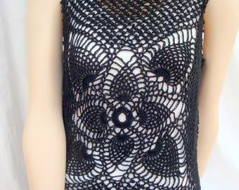 Crochet tank top crochet top handmade rosettes