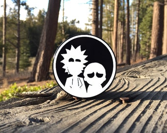 Large 2.5inch Custom Engraved Herb Grinder - Rick and Morty Art - 4 Piece Aluminum