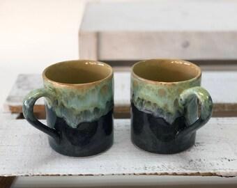 Set of 2 Ceramic Mugs, Artisan Mugs, Handmade Pottery, Mug Gift Set, Kitchen Gifts, Handmade Mugs, Blue Coffee Cups, Drinkware, Ceramic Mugs