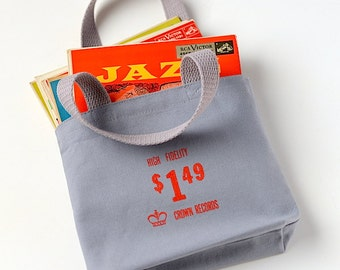 45 Record Bag, Small Turntable Tote, Hi Fidelity Purse, Audiophile Gift