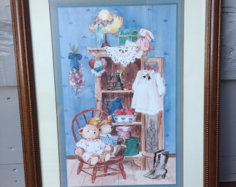 Vintage Home Interiors & Gifts Picture/Country Cupboard/Framed