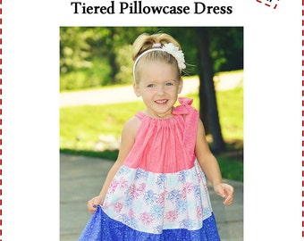 SEW FLOUNCY Tiered Pillowcase Dress Pattern Pdf Instant Download Pattern Easy Beginner Sewing - 4th of July Dress