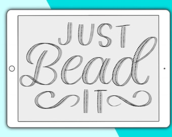 Just Bead It - Procreate lettering brush
