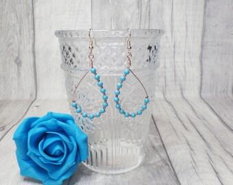 Swarovski pearl earrings, dangle pearl earrings, boho earrings, gift for her, boho jewellery