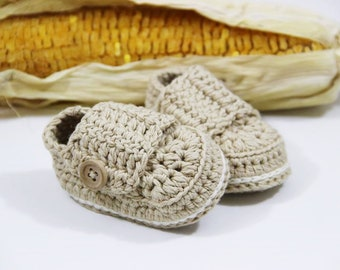 Cute infant booties, Organic cotton baby booties, First newborn baby shoes, Knitted baby clothes