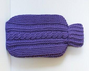 """DIY Crochet PATTERN - Crochet Cable Hot Water Bottle Cozy  Size: 7.5"""" x 13"""" tall (2015026)"""