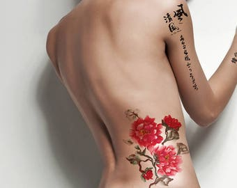 Supperb Large Temporary Tattoos - Love For Three Lifetimes