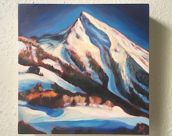 SALE: Mount Crested Butte - original oil painting