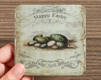 Happy Easter Drink Coasters  (4 coasters in a set)