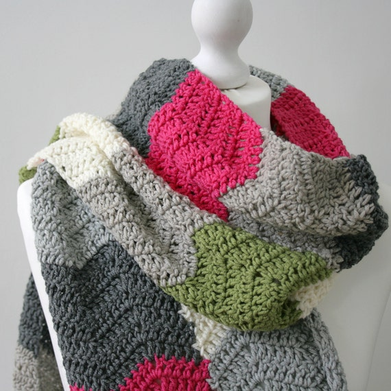 Crochet Scarf Pattern Subway Scarf Crochet Ripple Scarf