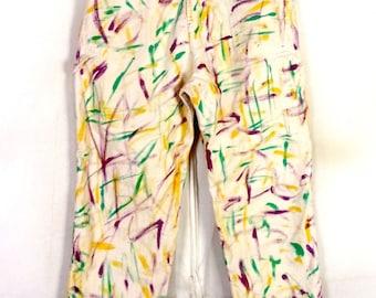 vtg 70s Universal Stone Cutter Denim Painter Jeans Paint Splatter Pants 38 X 30