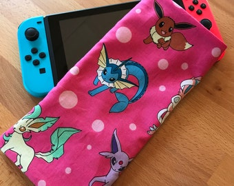Nintendo Switch Fabric Travel Sleeve - Pink Eevelutions