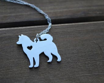 siberian husky charm | necklace