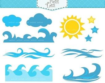 wave clip art etsy rh etsy com