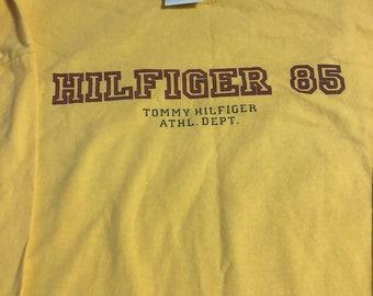 Vintage Tommy Hilfiger long sleeve tee sz L yellow