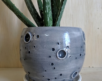 Ceramic Moon Standing Planter