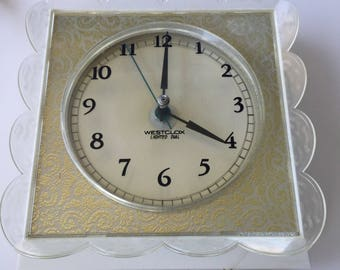 Vintage Westclox Lighted Dial Lace Dialite S13-V Wall Clock