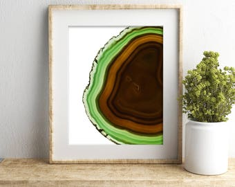 11x14 Geode Slice Art, Agate Crystal Print, Geode Wall Art, Meditation Wall Decor, Geode Art, Yoga Gifts For Women Housewarming Gift For Men