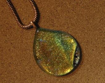 Fused Glass Pendant - Dichroic Pendant - Dichroic Necklace - Dichroic Jewelry - Fused Glass Necklace - Fused Glass Jewelry - Glass Pendant