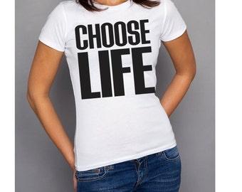 CHOOSE LIFE, replica George Michael t-shirt retro '80