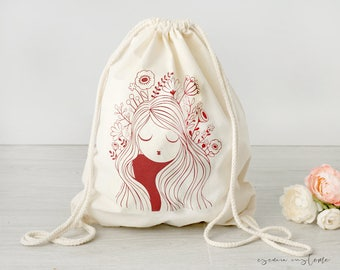 "Cotton backpack ""Poppy"""