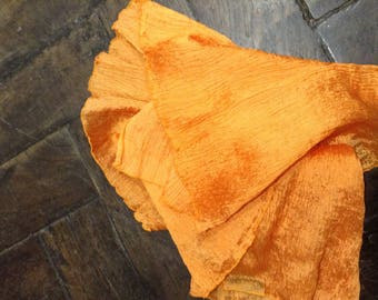 Clementine orange plain pleated coupon