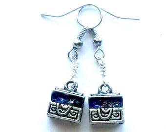 Treasure Chest Earrings Handmade Gift