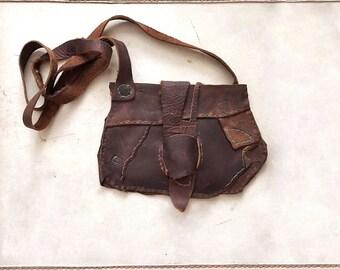 Cross Body Purse in Kodiak Oil Tanned Leather