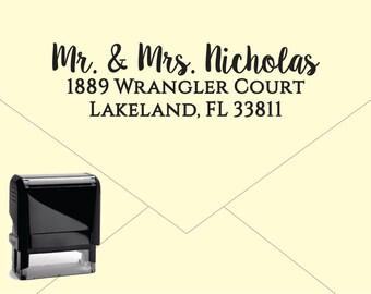 Self Inking Return Address Stamp * Custom Address Rubber Stamp (E038)