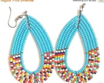 ON SALE TRIBAL Earrings, African Earrings, African Jewelry, Bohemian Earrings, Ethnic Earrings, Colorful Earrings, Cute Earrings, Fulani Ear