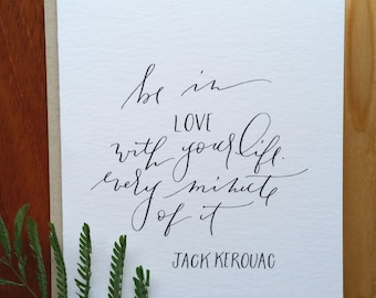 Be In Love with Your Life Card : Handwritten