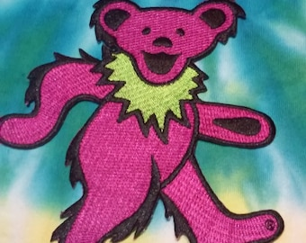 Dancing Bear Patch, Grateful Dead Patch, Jerry Bear, Purple Bear, Cassidy, Shakedown Street, Dead and Company, Bob Weir, John Mayer, Furthur