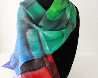 Traditional Silk Scarf. Comes in Modal, Chiffon and Satin.